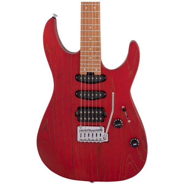 Charvel Pro-Mod DK24 HSS 2PT CM Red Ash