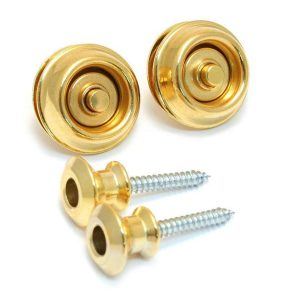 Dunlop Straplok Dual Design Gold