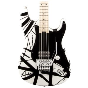 EVH Striped Series White with Black Stripes