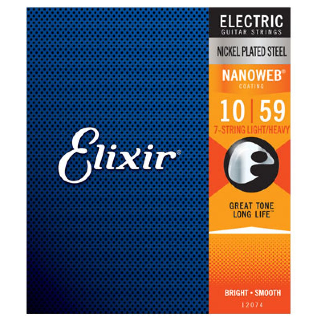 Elixir 12074 Electric Nickel Plated Steel Light-Heavy 10-59 (7-string)
