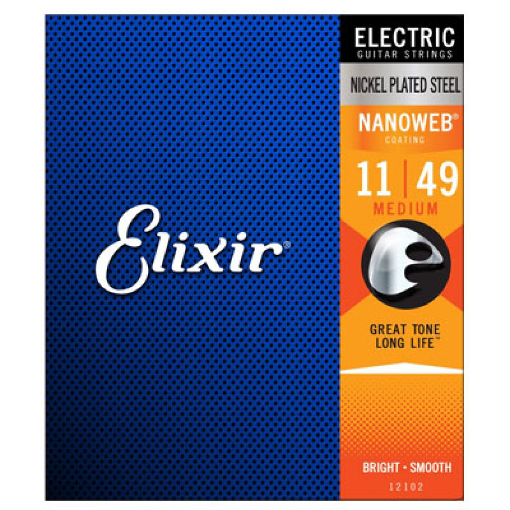 Elixir 12102 Electric Nickel Plated Steel Medium 11-49