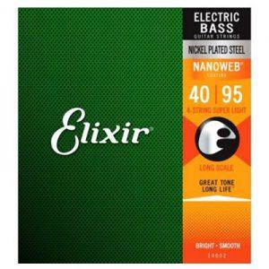 Elixir 14002 Electric Bass Nickel Plated Steel Super Light 40-95