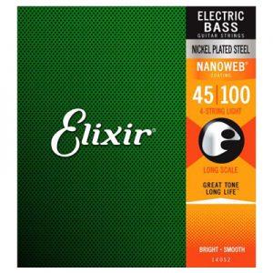 Elixir 14052 Electric Bass Nickel Plated Steel Light 45-100