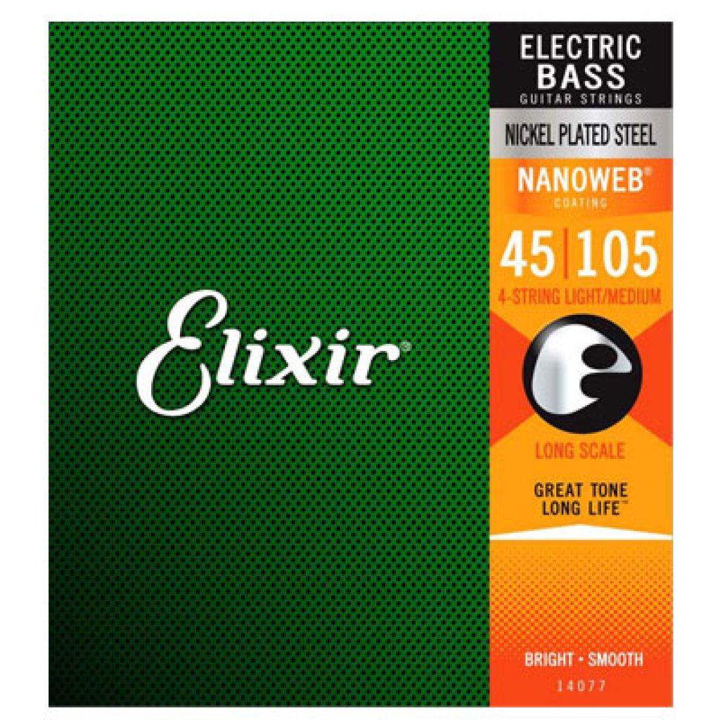 Elixir 14077 Electric Bass Nickel Plated Steel Light/Medium 45-105