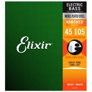 Elixir 14087 Electric Bass Nickel Plated Steel Light/Medium 45-105 (Extra Long Scale)