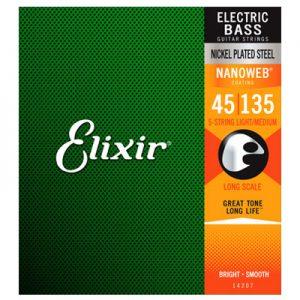 Elixir 14207 Electric Bass Nickel Plated Steel Light Medium 45-135