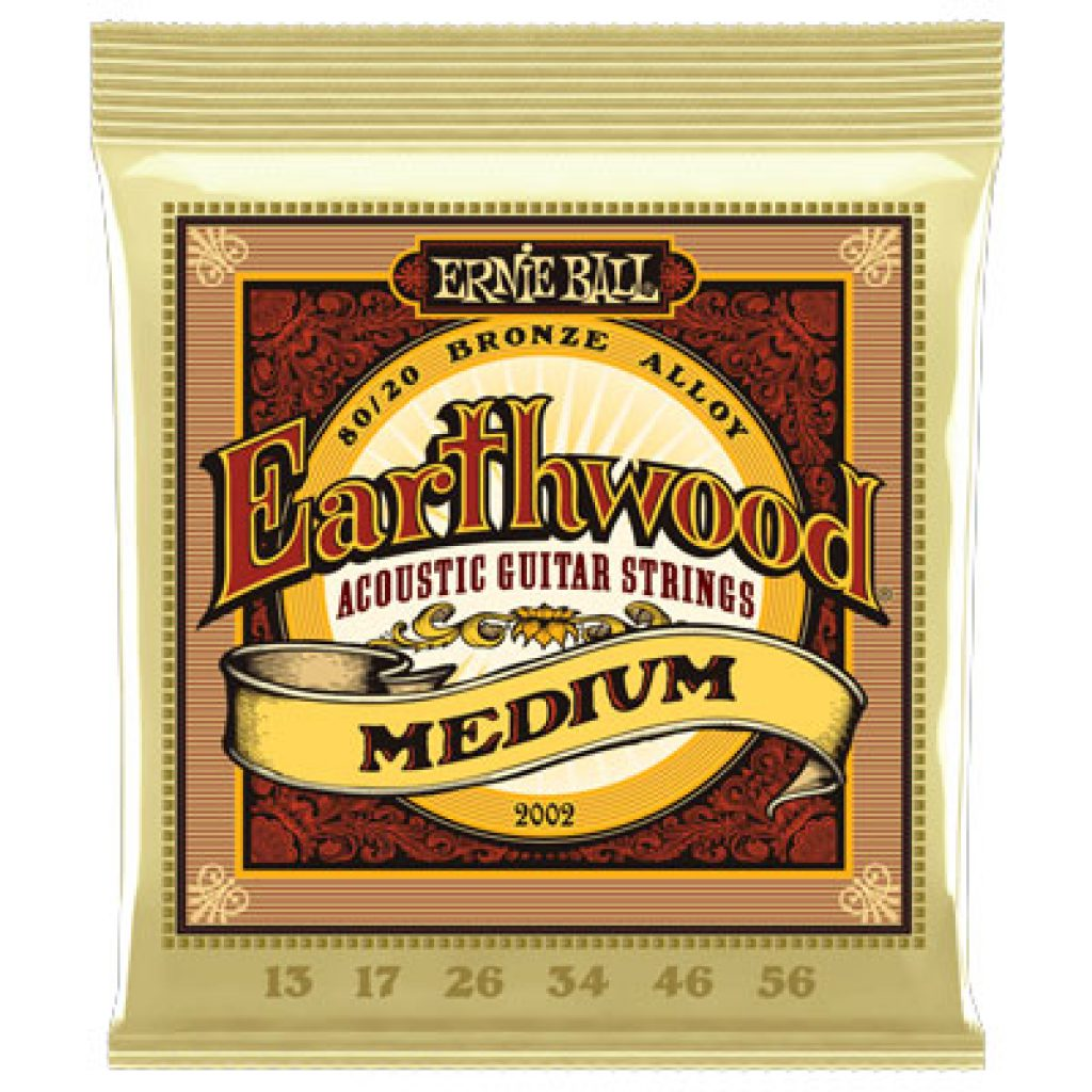 Ernie Ball 2002 Earthwood 80/20 Bronze Acoustic Medium 13-56
