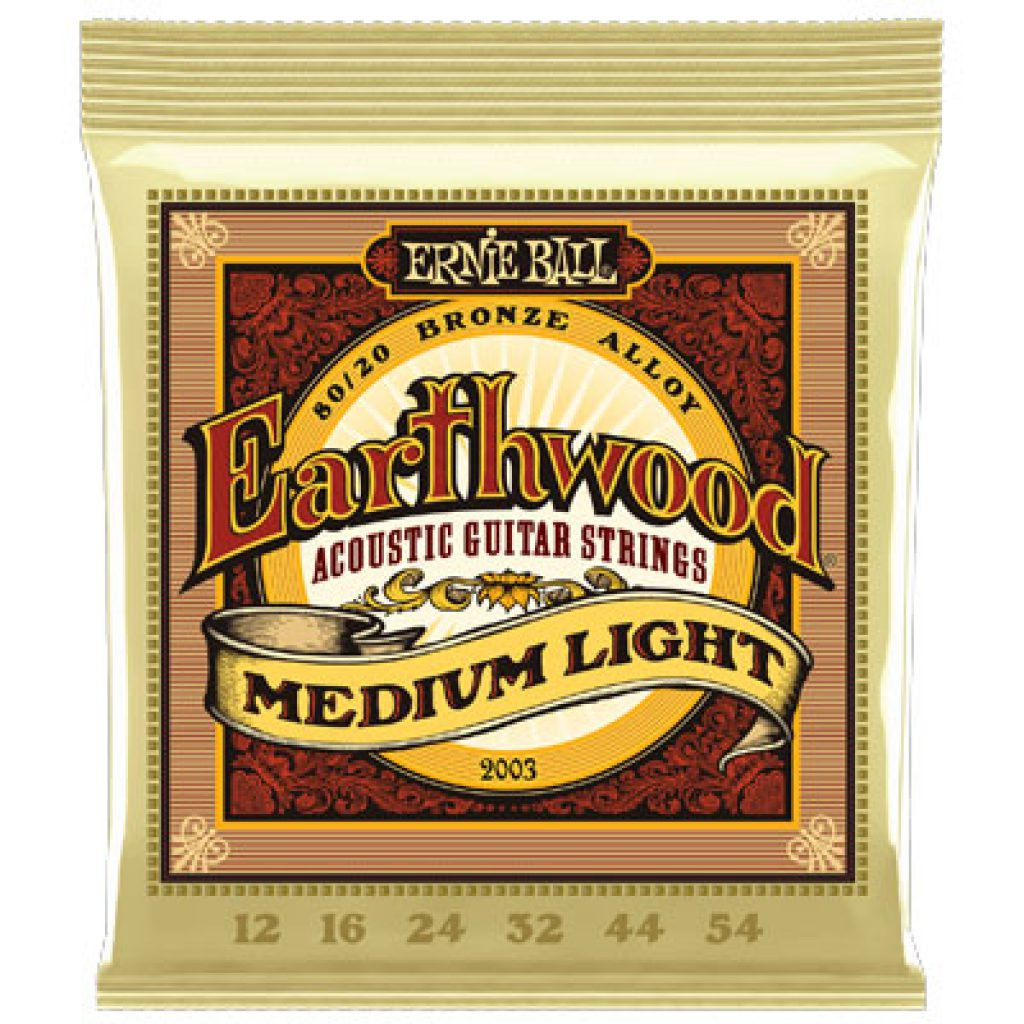 Ernie Ball 2003 Earthwood 80/20 Bronze Acoustic Medium Light 12-54