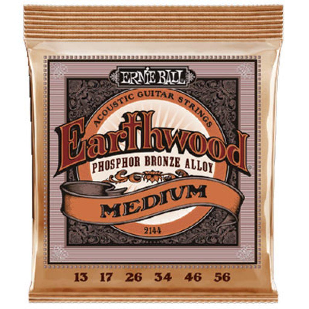 Ernie Ball 2144 Earthwood Phosphor Bronze Acoustic Medium 13-56