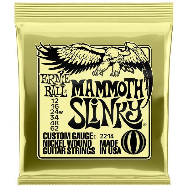 Ernie Ball 2214 Nickel Wound Electric Mammoth Slinky 12-62