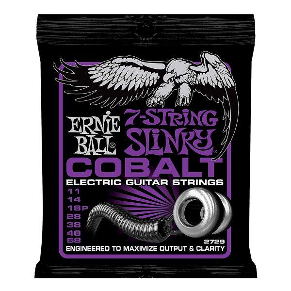 Ernie Ball 2729 Cobalt Power Slinky 11-58 (7-string)