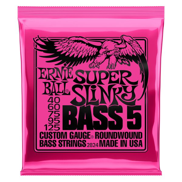 Ernie Ball 2824 Nickel Wound Bass Super Slinky 40-125
