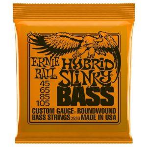 Ernie Ball 2833 Nickel Wound Bass Hybrid Slinky 45-105