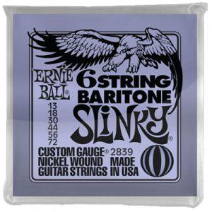 Ernie Ball 2839 6 String Baritone Slinky 13-72