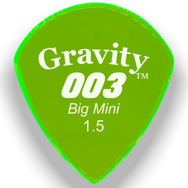 Gravity Picks G003B15P 003 Big Mini 1.5mm Polished Green