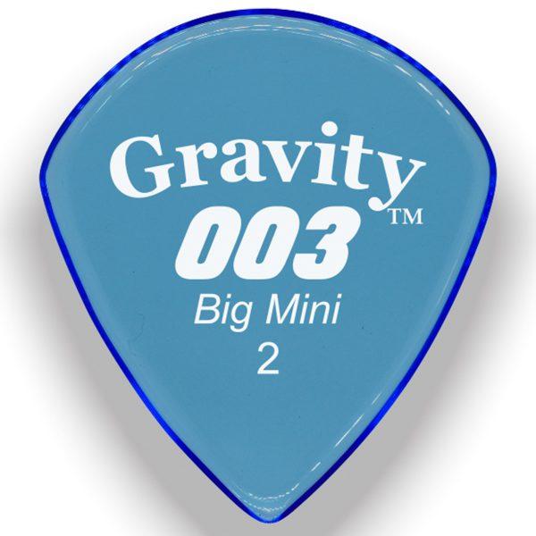 Gravity Picks G003B2P 003 Big Mini 2.0mm Polished Blue