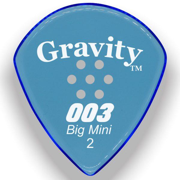 Gravity Picks G003B2PM 003 Big Mini 2.0mm Polished w/ Multi-Hole Blue