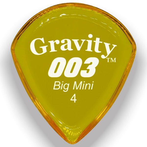 Gravity Picks G003B4P 003 Big Mini 4.0mm Polished Yellow