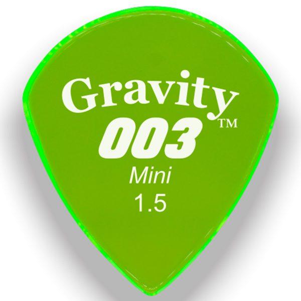 Gravity Picks G003M15P 003 Mini 1.5mm Polished Fl. Green