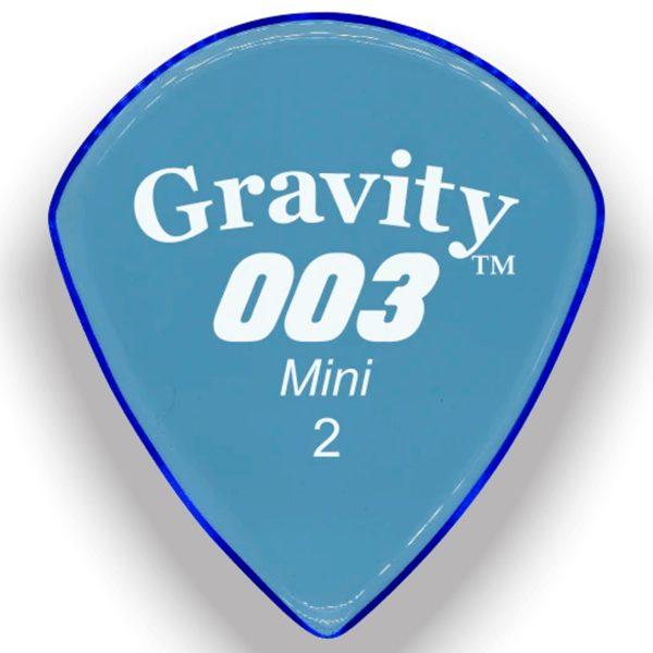 Gravity Picks G003M2P 003 Mini 2.0mm Polished Blue
