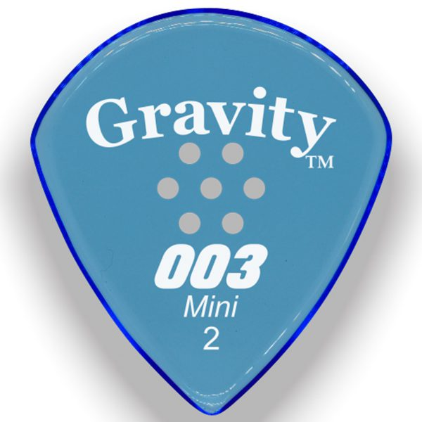 Gravity Picks G003M2PM 003 Mini 2.0mm Polished w/ Multi-Hole Blue