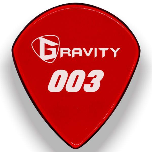 Gravity Picks G003P 003 1.5mm Regular Polished Red
