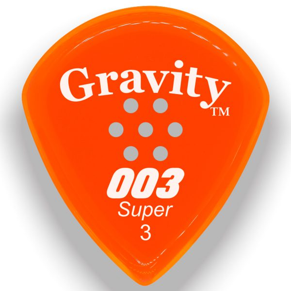 Gravity Picks G003S3PM 003 Super 3.0mm Polished w/ Multi-Hole Orange