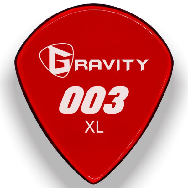 Gravity Picks G003XM 003 1.5mm XL Master Red
