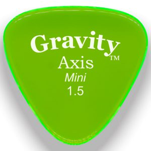 Gravity Picks GAXM15M Axis 1.5mm Mini (Jazz) Master Green
