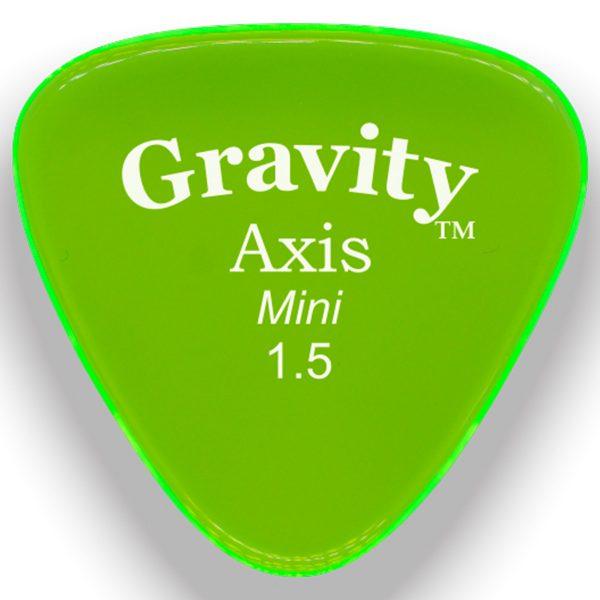 Gravity Picks GAXM15M Axis 1.5mm Mini (Jazz) Master Green