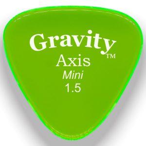 Gravity Picks GAXM15P Axis 1.5mm Mini (Jazz) Polished Green