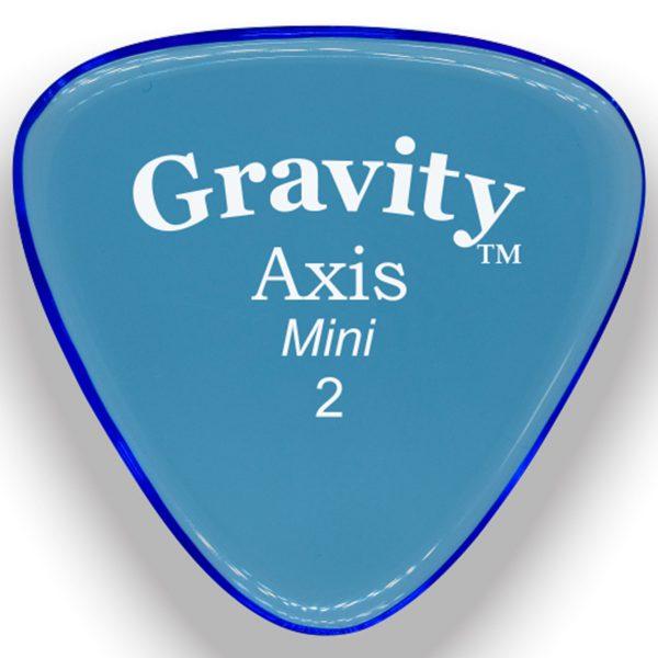 Gravity Picks GAXM2M Axis 2.0mm Mini (Jazz) Master Blue