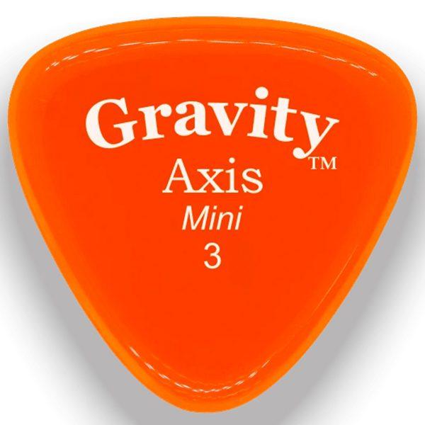 Gravity Picks GAXM3P Axis 3.0mm Mini (Jazz) Polished Orange