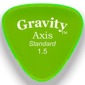 Gravity Picks GAXS15P Axis Standard 1.5mm Polished Fluorescent Green