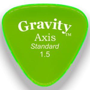 Gravity Picks GAXS15P Axis Standard 1.5mm Polished Fluorescent Green