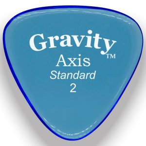 Gravity Picks GAXS2P Axis Standard 2.0mm Polished Blue