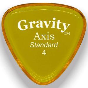 Gravity Picks GAXS4P Axis 4.0mm Standard Polished Yellow