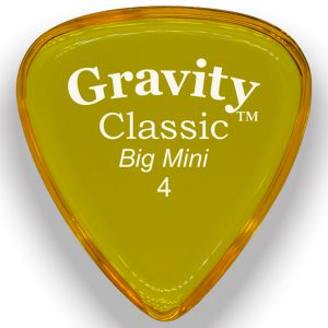 Gravity Picks GCLB4P Classic Big Mini 4.0mm Polished Yellow