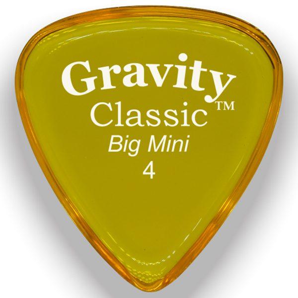 Gravity Picks GCLB4P Classic Big Mini 4.0mm Polished Yellow