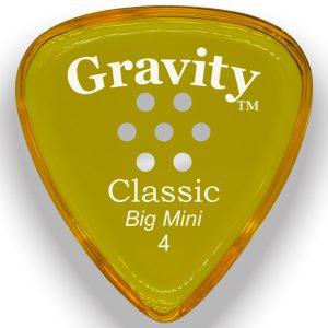 Gravity Picks GCLB4PM Classic Big Mini 4.0mm Polished with Multi-Hole Grip Yellow