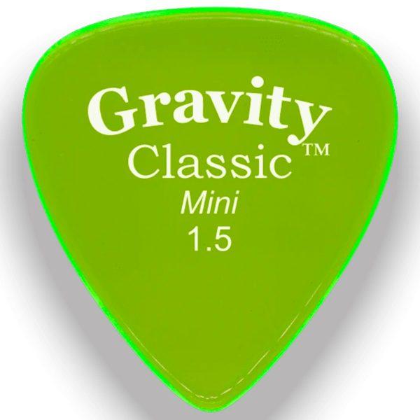 Gravity Picks GCLM15M Classic 1.5mm Mini (Jazz) Master Green