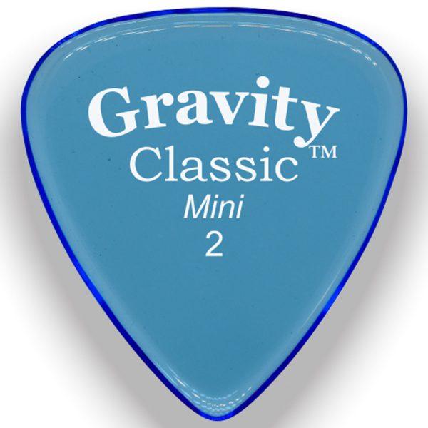 Gravity Picks GCLM2M Classic 2.0mm Mini (Jazz) Master Blue