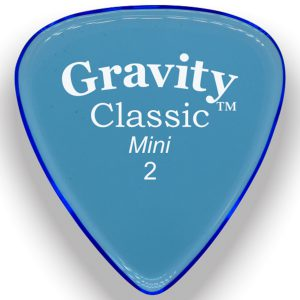 Gravity Picks GCLM2P Classic 2.0mm Mini (Jazz) Polished Blue