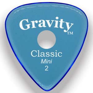 Gravity Picks GCLM2PR Classic Mini 2.0mm Polished with Round Grip Hole Blue