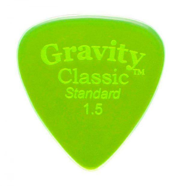 Gravity Picks GCLS15P Classic Standard 1.5mm Polished Fl. Green