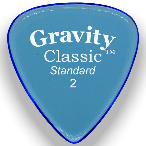Gravity Picks GCLS2M Classic Standard 2.0mm Master Blue