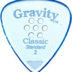Gravity Picks GCLS2MM Classic Standard 2.0mm Master w/ Multi-Hole Blue