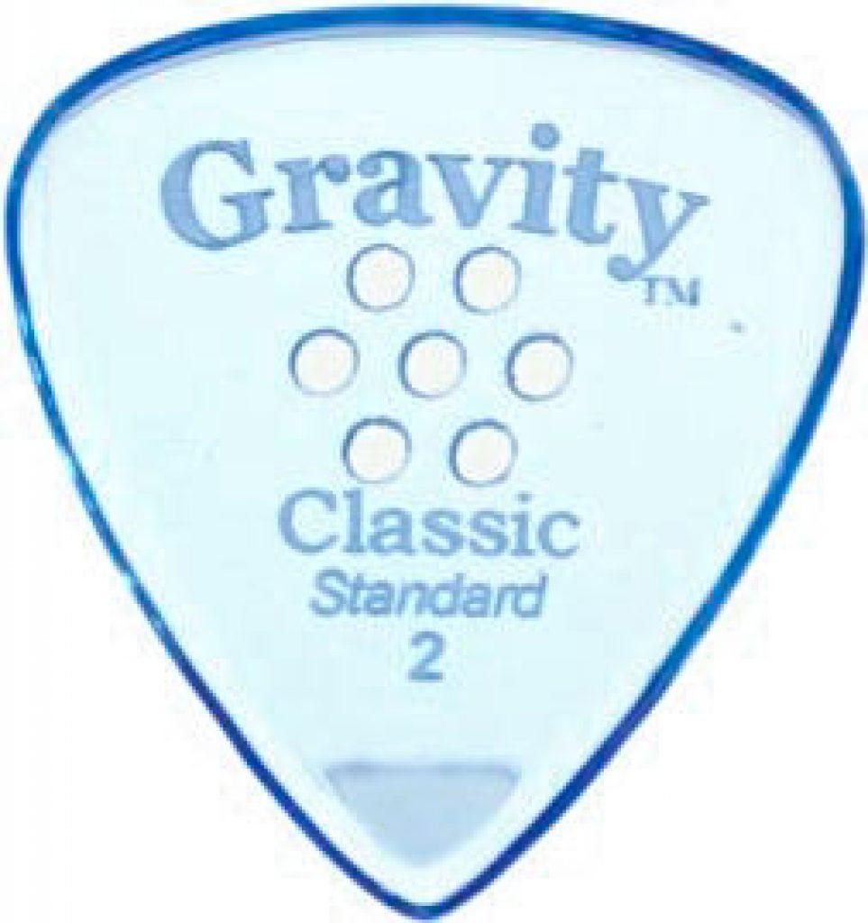 Gravity Picks GCLS2MM Classic Standard 2.0mm Master w/ Multi-Hole Blue