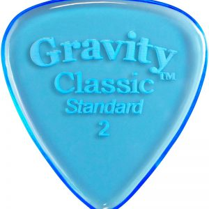 Gravity Picks GCLS2P Classic Standard 2.0mm Polished Blue