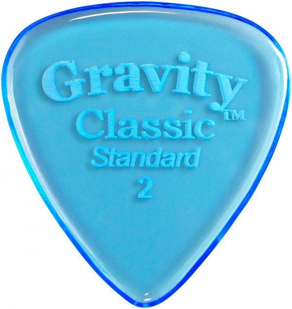 Gravity Picks GCLS2P Classic Standard 2.0mm Polished Blue